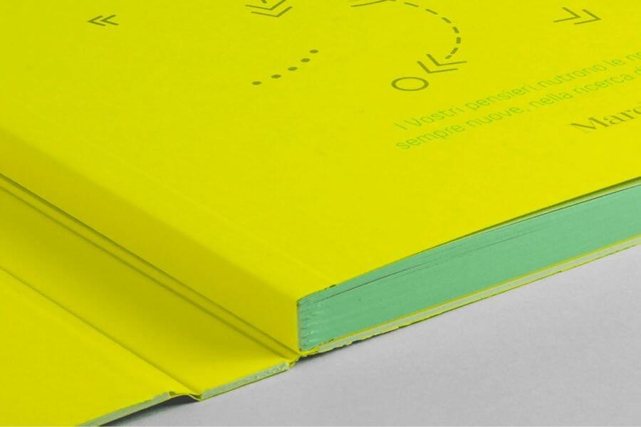 Cartonato svizzero - Cartonato con libro applicato su una cartella.